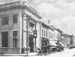 Historic black and white photo of Main Office location